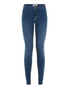Teens Blue High Waist Super Skinny Jeans | New Look