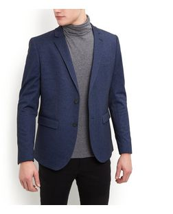 Blue Jersey Blazer  | New Look