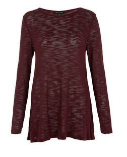 Purple Fine Knit Swing Tunic Top | New Look