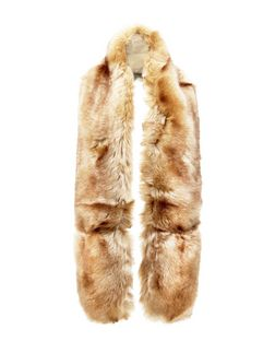 Camel Faux Fur Stole | New Look