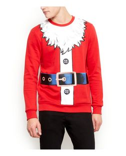 Red Santa Christmas Jumper  | New Look