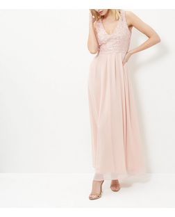 AX Paris Cream Lace Panel Maxi Dress | New Look