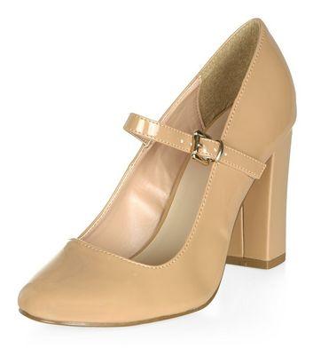 camel-patent-front-strap-block-heels