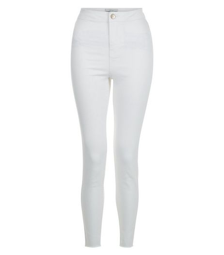 White High Waist Super Skinny Jeans | New Look