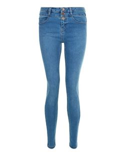 Blue High Waist Super Skinny Jeans  | New Look