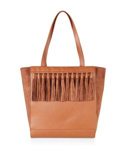 Tan Tassel Front Shopper Bag | New Look