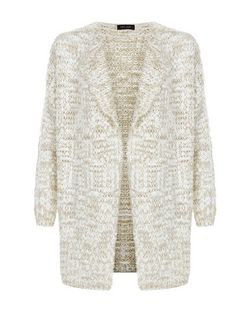 Stone Chunky Knit Cardigan  | New Look