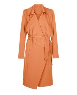 Anita and Green Brown Waterfall Trench Coat  | New Look