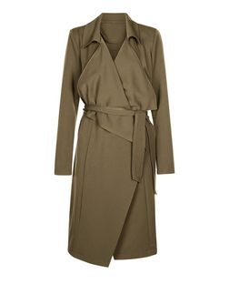 Anita and Green Khaki Waterfall Trench Coat  | New Look