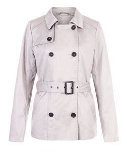 JDY Stone Belted Trench Coat | New Look
