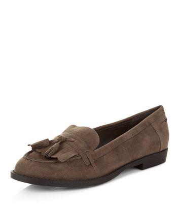 Mocassini  donna Dark Grey Fringed Tassel Loafers