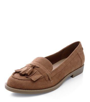 Mocassini  donna Tan Fringed Tassel Loafers