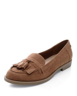 Tan Fringed Tassel Loafers | New Look