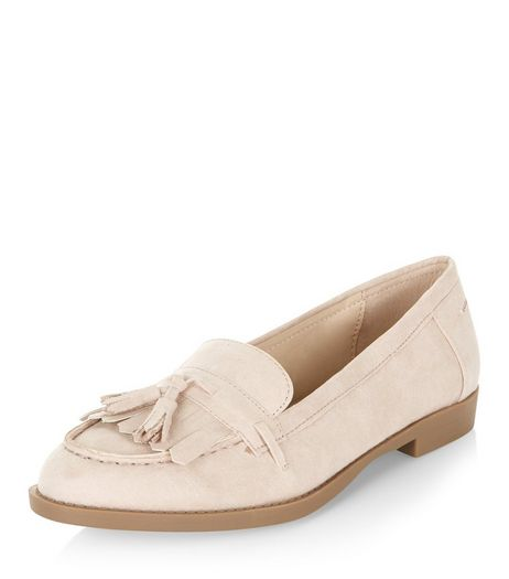 Pink Fringed Tassel Loafers | New Look