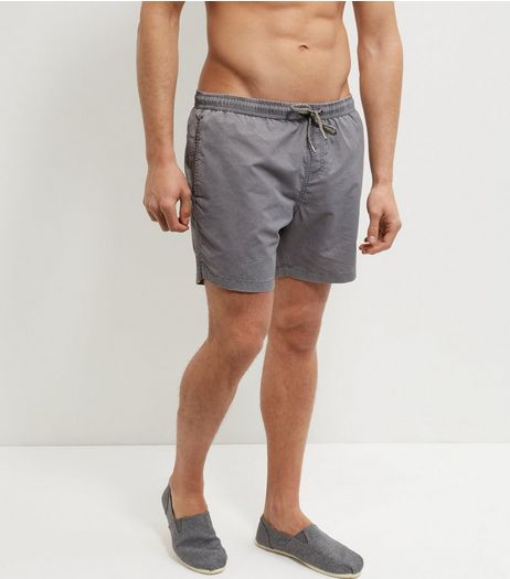 Grey Acid Wash Swim Shorts | New Look