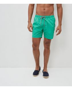 Green Acid Wash Swim Shorts | New Look