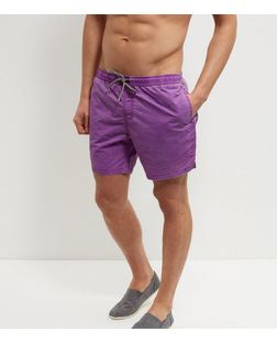 Purple Acid Wash Swim Shorts | New Look