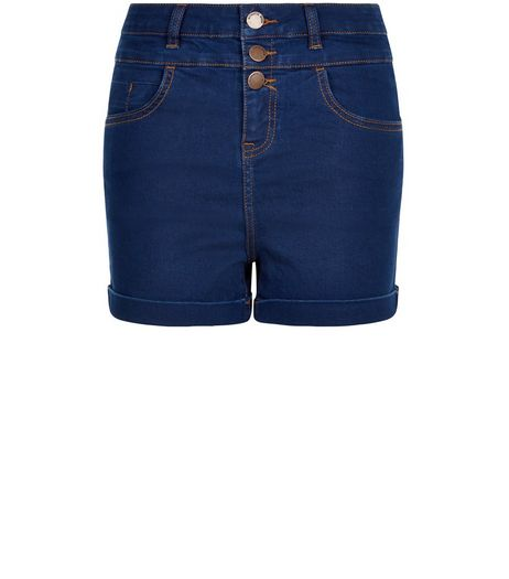 Blue High Waisted Denim Shorts  | New Look