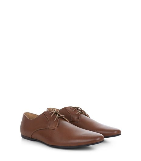 Tan Lace Up Gibson Shoes | New Look