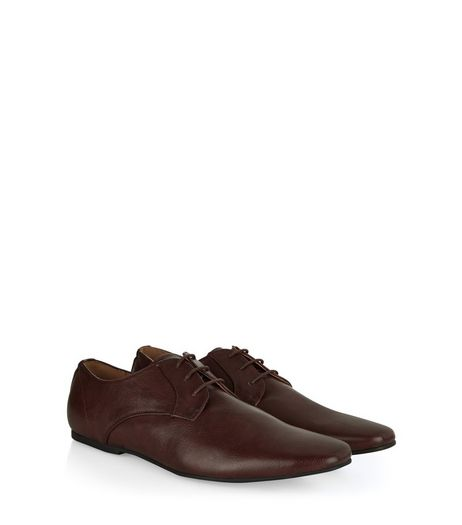 Dark Brown Lace Up Gibson Shoes | New Look
