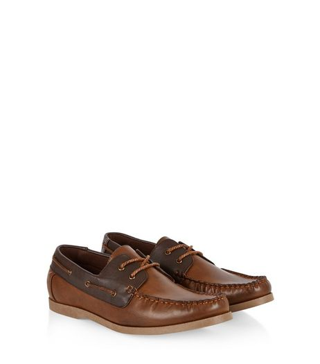 Dark Brown Boat Shoes  | New Look