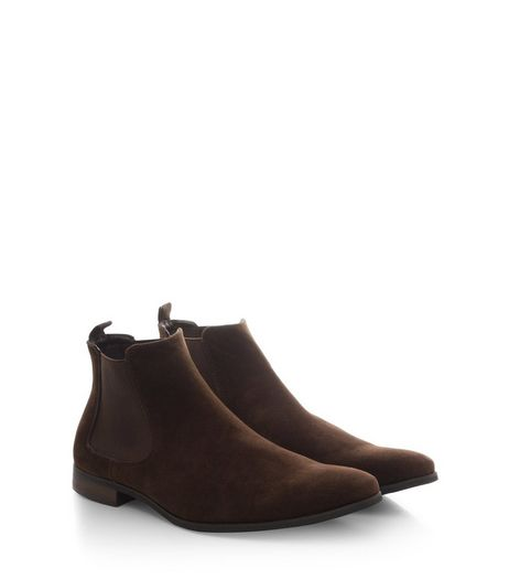 Brown Suedette Chelsea Boots  | New Look