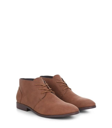 Tan Faux Nubuck Chukka Boots  | New Look