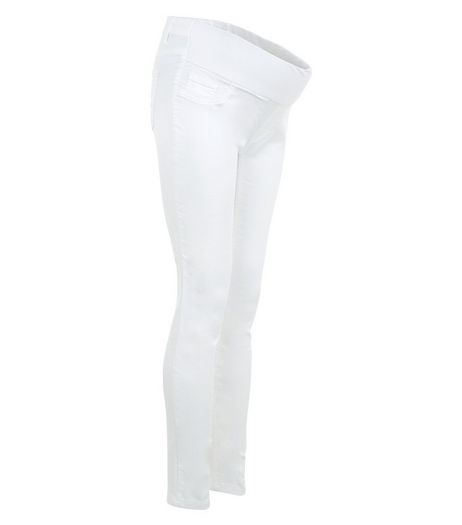 Maternity White Under Bump Skinny Jeans  | New Look