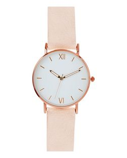 Pink Contrast Face Watch | New Look