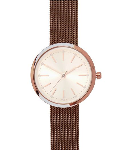 Pink Mesh Strap Watch | New Look