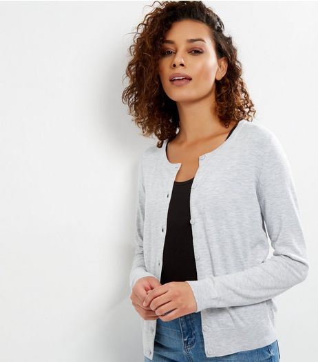 Grey Crew Neck Cardigan | New Look