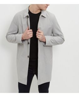 Pale Grey Single Breasted Trench Coat  | New Look