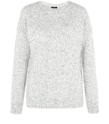 Grey Twist Knit Split Side Jumper  | New Look
