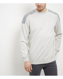 Stone Patch Shoulder Crew Neck Jumper  | New Look