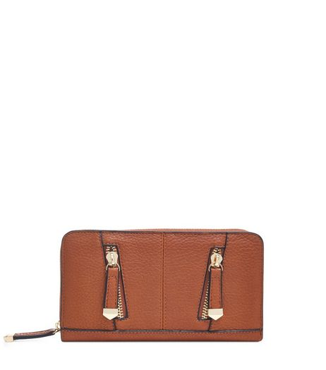 Tan Zip Front Purse  | New Look