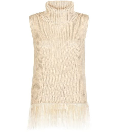 Stone Roll Neck Tassel Vest | New Look