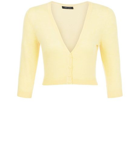 Yellow Cropped Cardigan | New Look