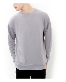 Light Grey Oversized Crew Neck Sweater | New Look