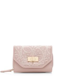 Stone Leather-Look Lace Flap Over Purse | New Look