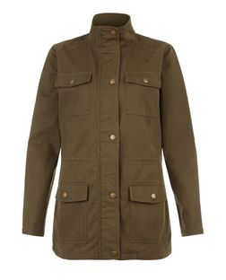 Teens Khaki Lightweight Utility Jacket | New Look