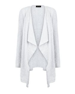 Grey Waterfall Cardigan  | New Look