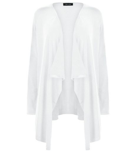 White Waterfall Cardigan | New Look