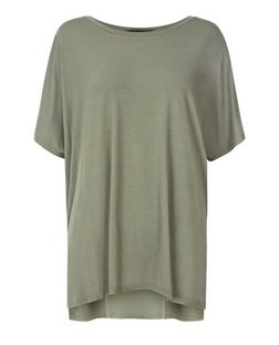 Khaki Oversized T-Shirt | New Look