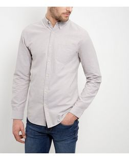 Stone Single Pocket Oxford Shirt  | New Look