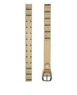 Gold Metallic Stud Jeans Belt  | New Look