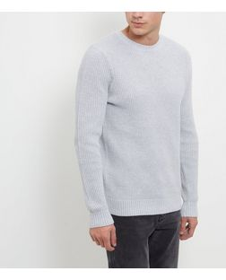 Grey Textured Stitch Jumper  | New Look