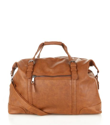 Tan Faux Leather Holdall  | New Look