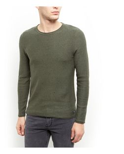 Produkt Khaki Flecked Crew Neck Jumper  | New Look