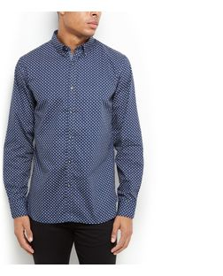 Produkt Blue Polka Dot Long Sleeve Shirt  | New Look
