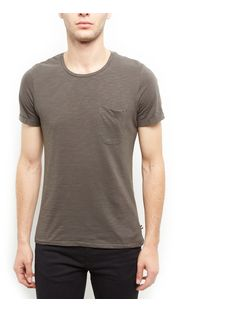 Produkt Khaki Single Pocket T-Shirt  | New Look